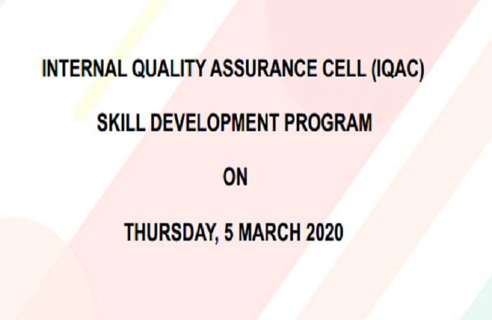 INTERNAL QUALITY ASSURANCE CELL (IQAC) SKILL DEVELOPMENT PROGRAM