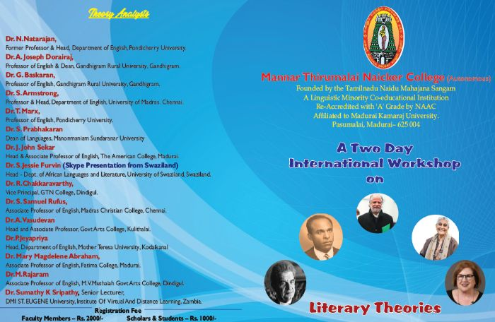 A two day international workshop on literary theories