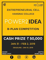 Power2Idea: The B-Plan Hansraj 2019