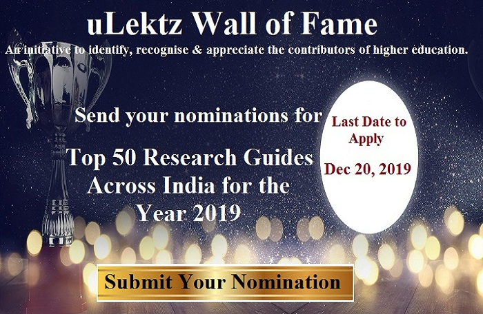 uLektz Wall of Fame - Top 50 Research Guides across India