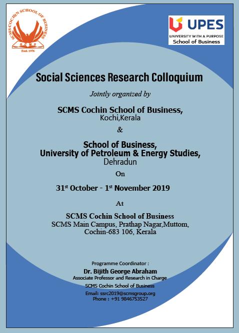 Social Sciences Research Colloquium
