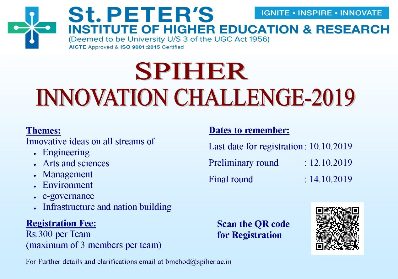 SPIHER INNOVATION CHALLENGE 2019