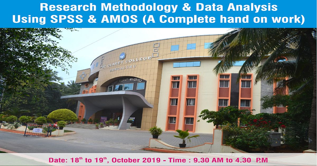 Two Day - National Level Workshop on Research Methodology & Data Analysis using SPSS & AMOS