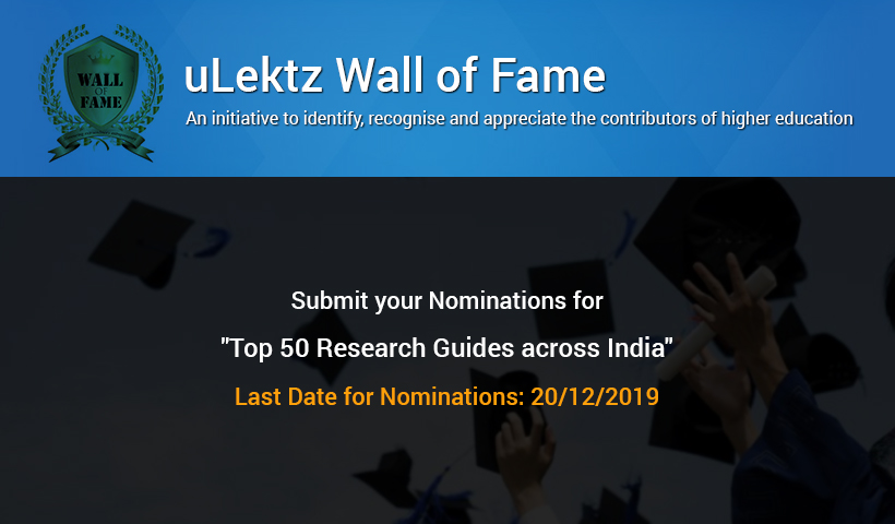 uLektz Wall of Fame  - Top 50 Distinguished Educators in Higher Education Across India