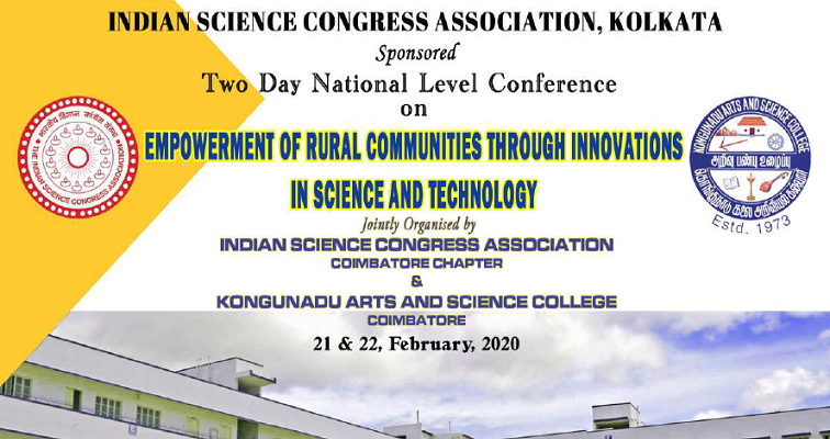 Two day National level conference on Empowerment of Rural communities through innovations in science and technology