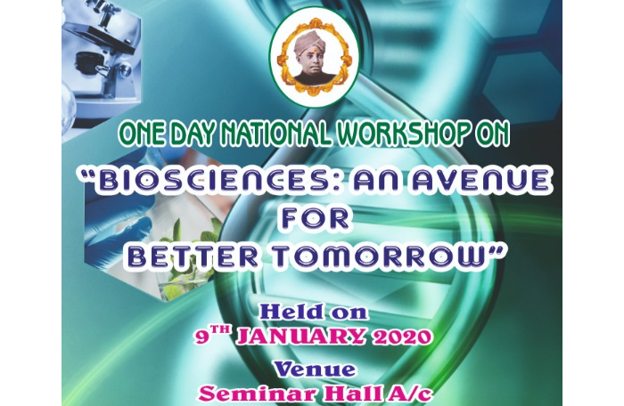One day National Workshop on Bioscience - An Avenue for better tomorrow