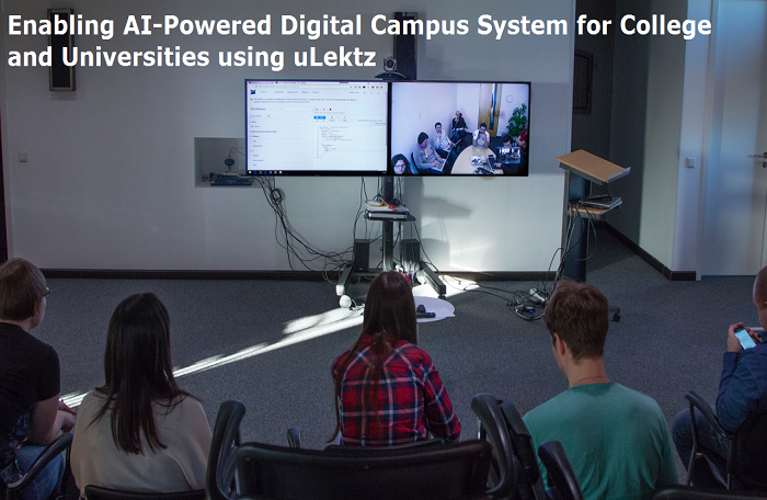 Enabling AI-Powered Digital Campus System for College and Universities using uLektz