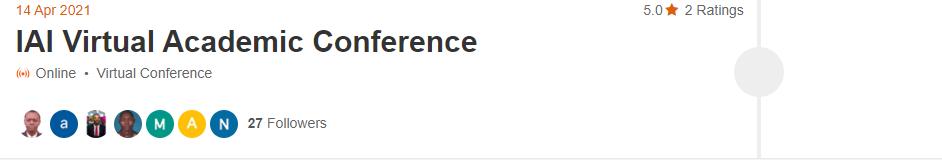 IAI Virtual Academic Conference
