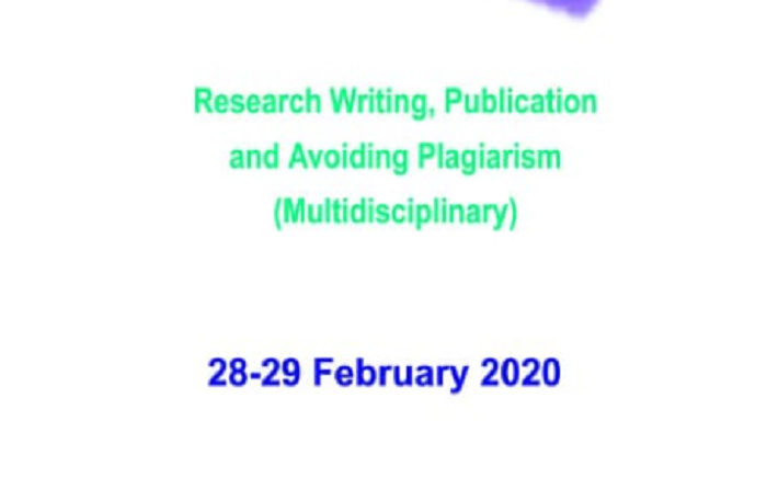 National Workshop on Research Writing, Publication and Avoiding Plagiarism