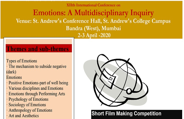 XIIth International Conference on Emotions: A Multidisciplinary Inquiry