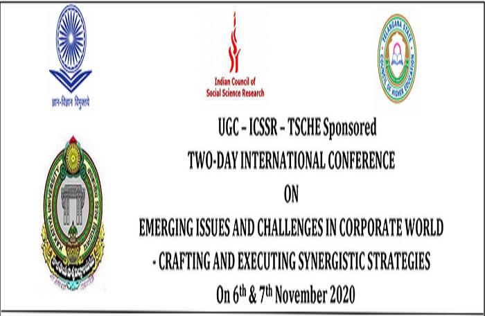 Two Day International Conference on Emerging issues and Challenges in Corporate World - Crafting and Executing Synergistic Strategies