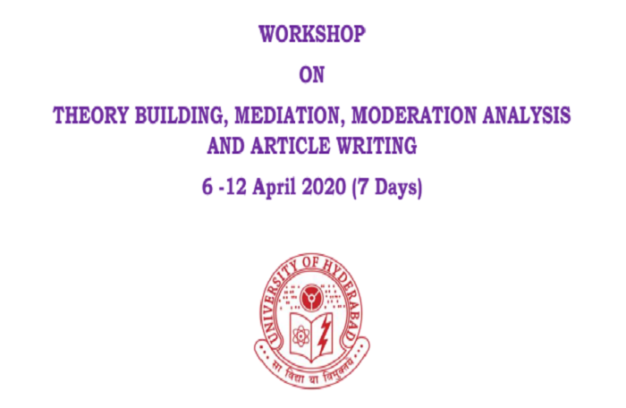 WORKSHOP ON THEORY BUILDING, MEDIATION, MODERATION ANALYSIS AND ARTICLE WRITING