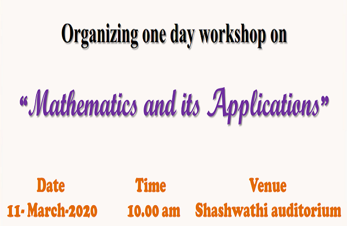One day Workshop on Mathematics and its applications