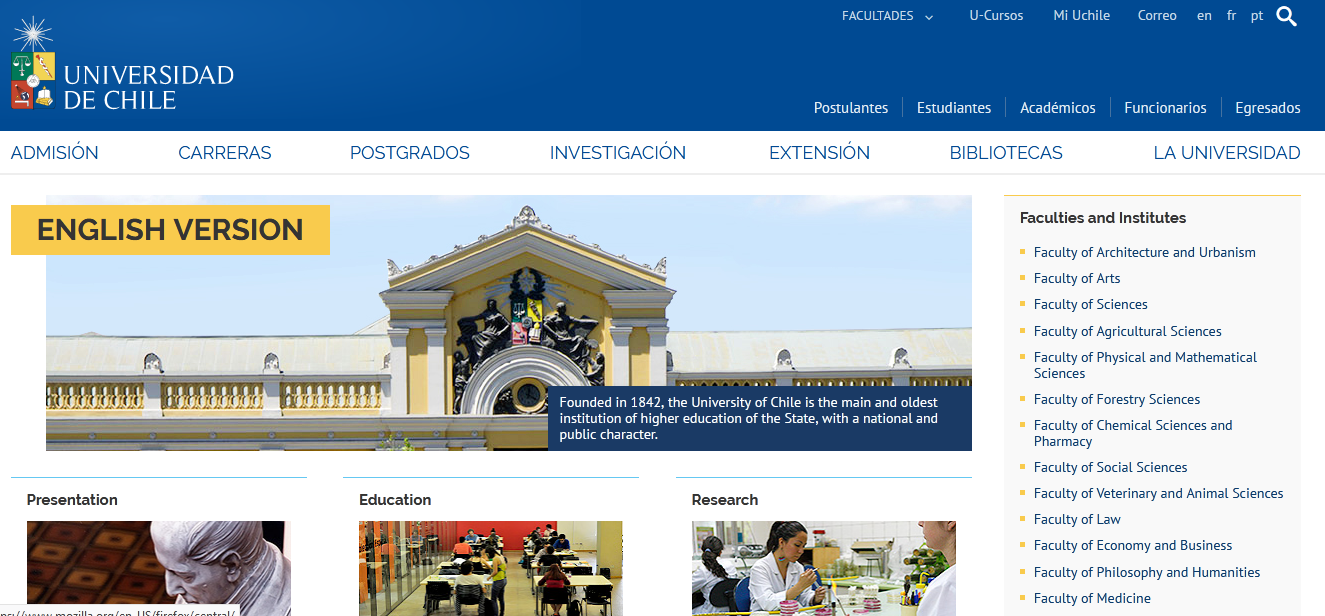 Top 10 Universities in Chile for Higher Education for the year 2021