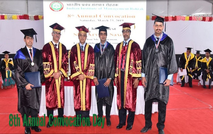 8th convocation organised by IIM Rohtak