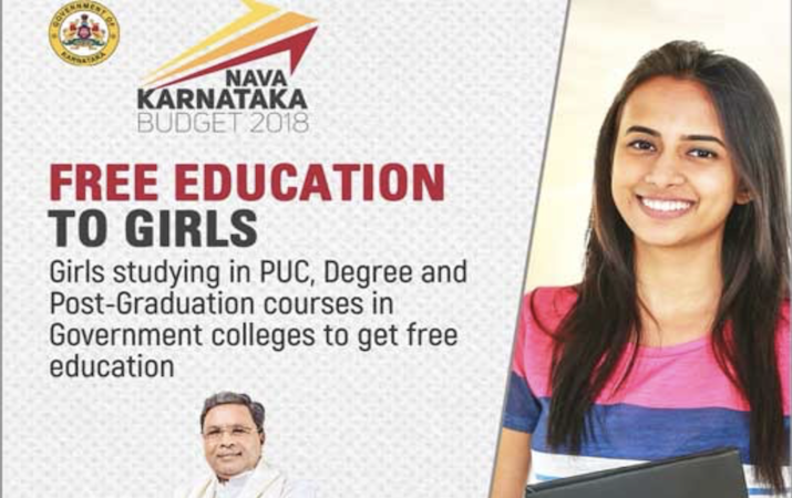 Girl college students in Karnataka to get free education