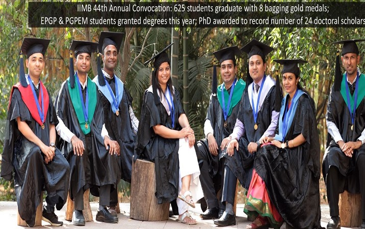 IIMB 44th Annual Convocation 625 students graduate with 8 bagging Gold Medals