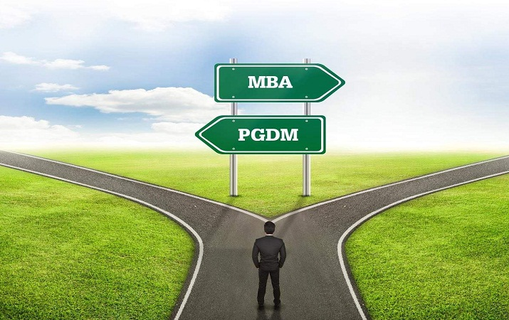 MBA and PGDM, Difference Between the Courses