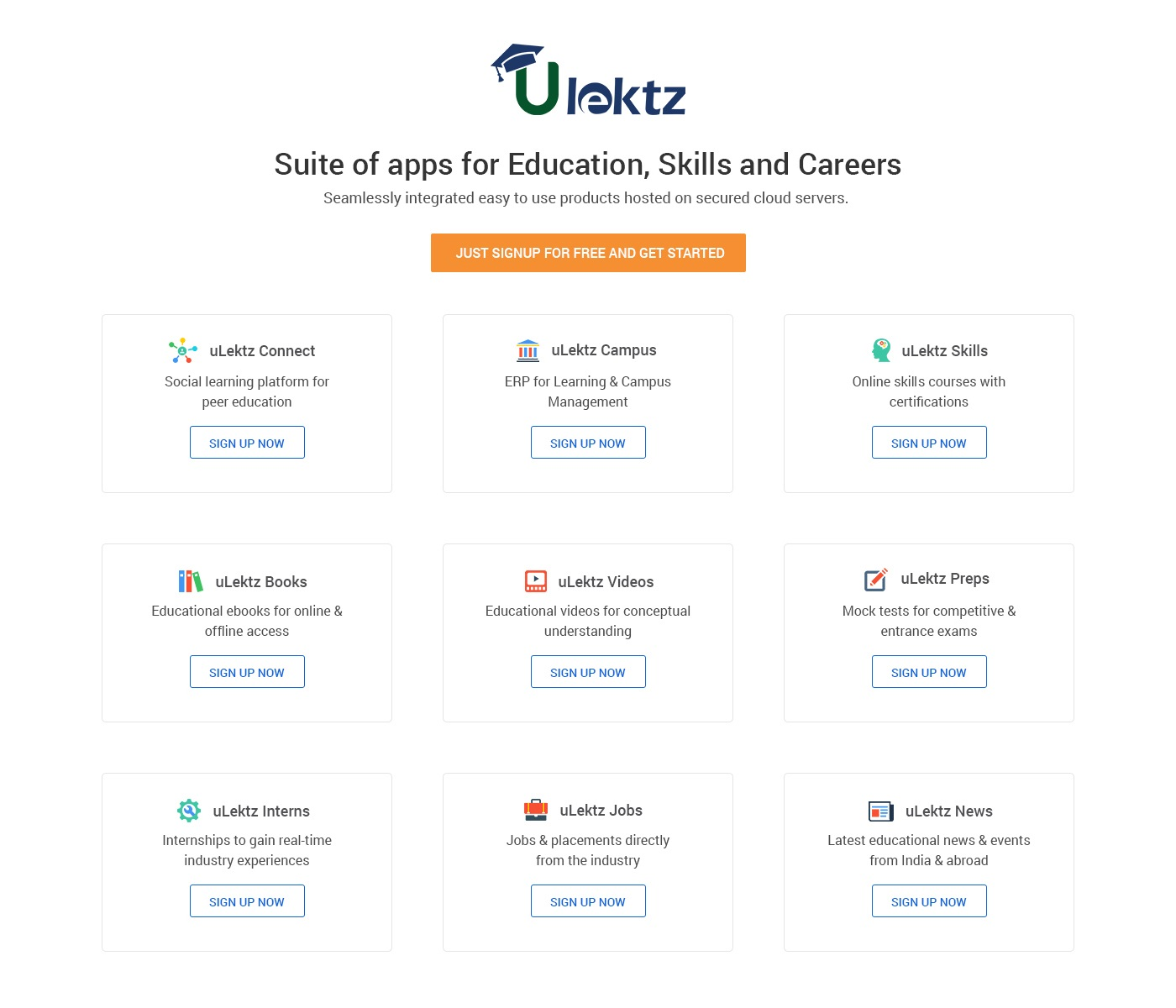 What Zoho offers for business, uLektz offers to higher education