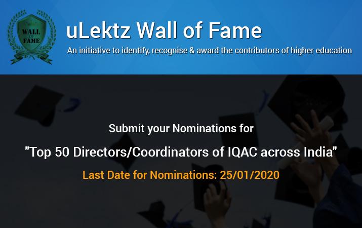 uLektz Wall of Fame will be honouring Top 50 Directors or Coordinators