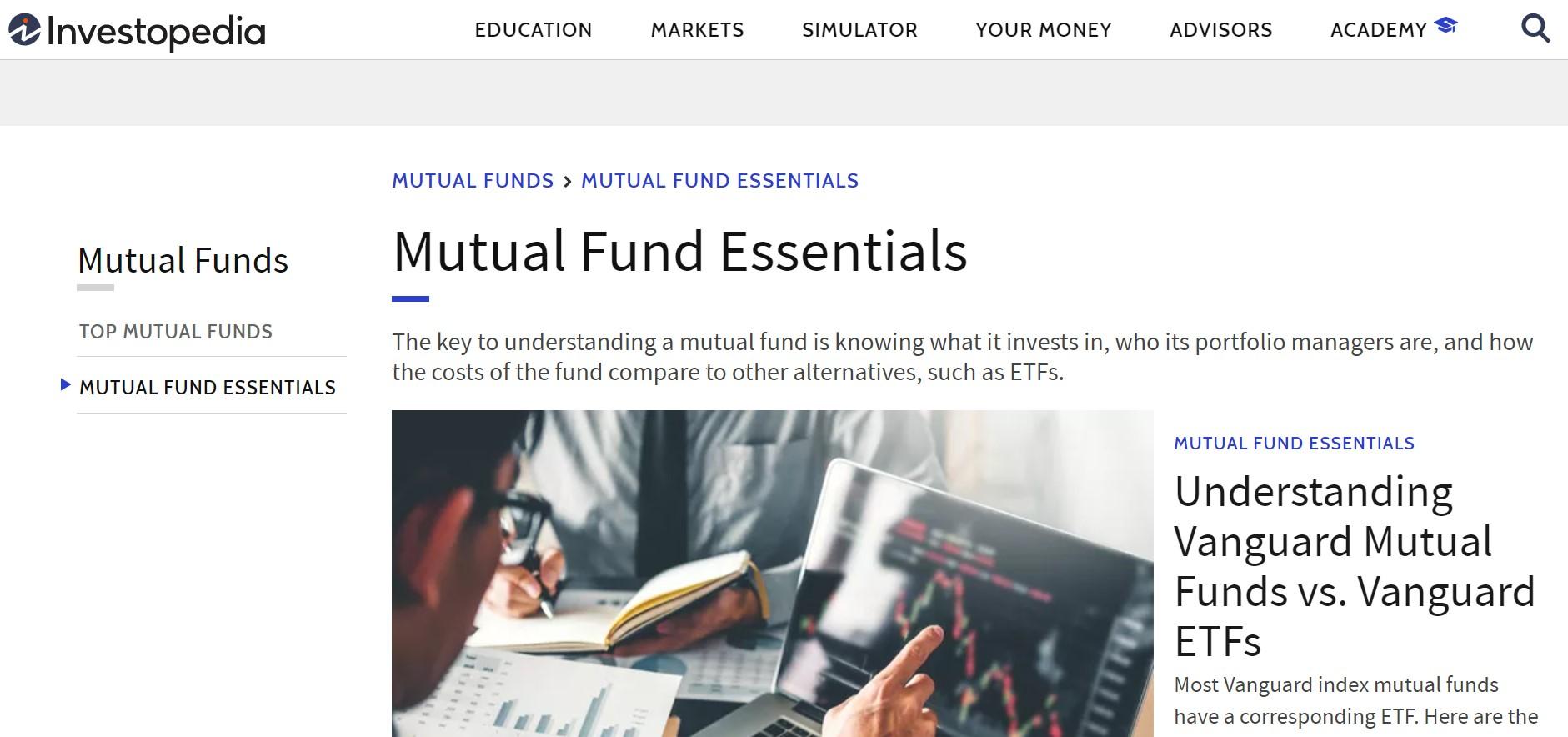Investopedia website