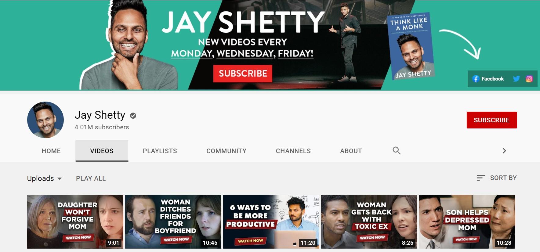 Jay Shetty Youtube