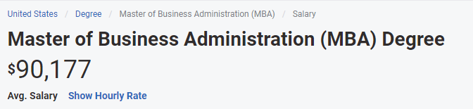 mba salary in us