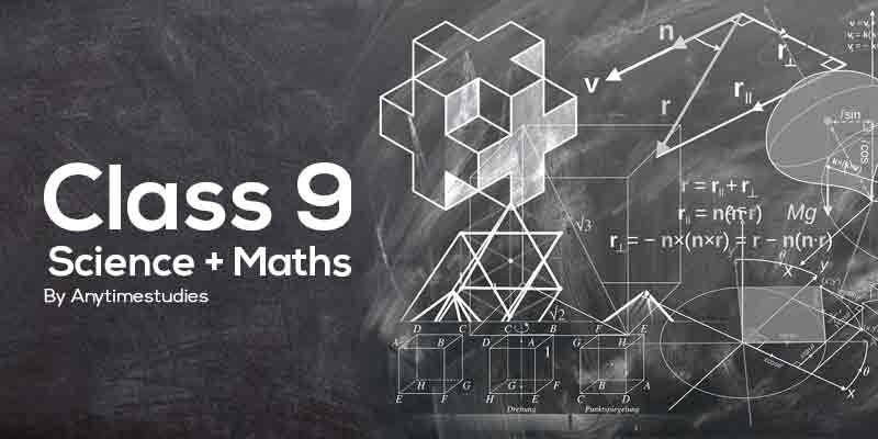 Anytimestudies Class 9 Science + Mathematics Animated Video Lecture in Hindi & English (DVD)