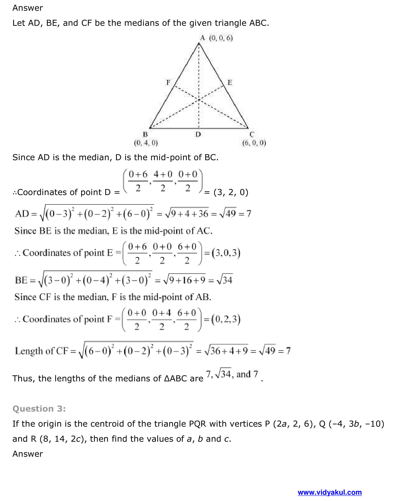 CBSE Class 12 Maths Chapter Three Dimensional Geometry Formula
