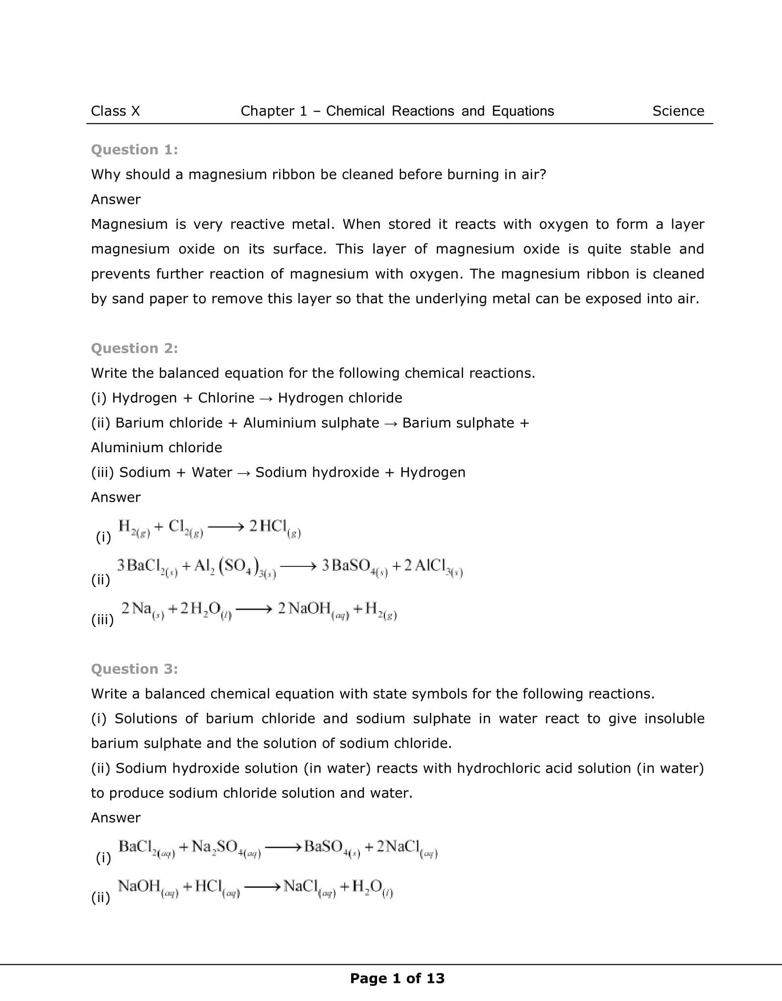 Ncert Solutions For Class 10 Science Chapter 1 Vidyakul
