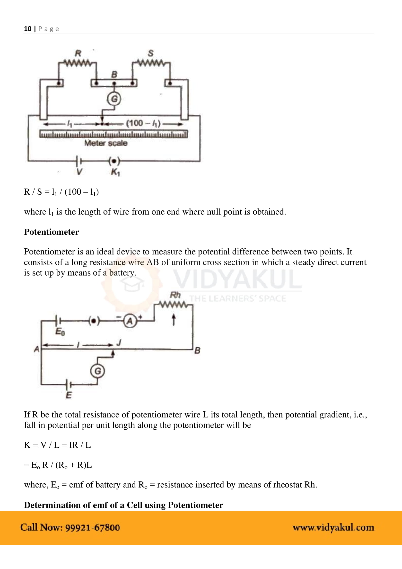 Current Electricity Class 12 Notes Vidyakul Electric Circuits Resistors In Series And Parallel Free Physics Part 11