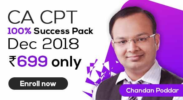 CA CPT 100% Success Pack By Chandan Sir
