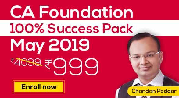 CA Foundation 100% Success Pack May Intake