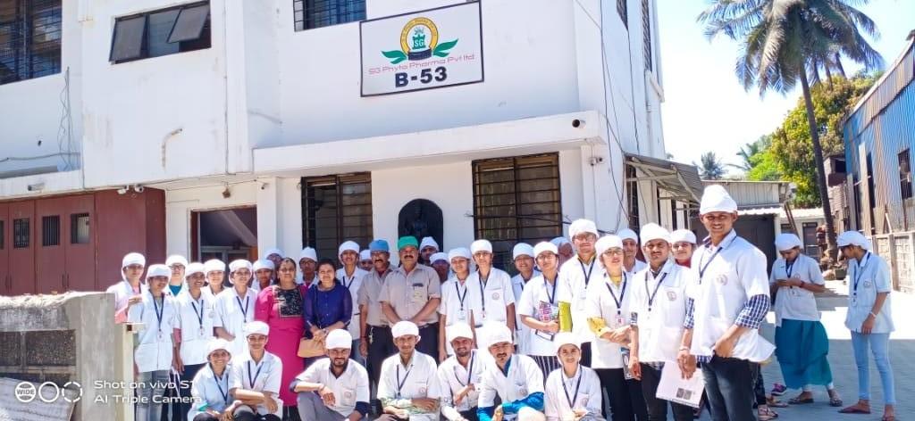 Industrial Visit at S. G. PHYTP.PHARMA ,Kolhapur