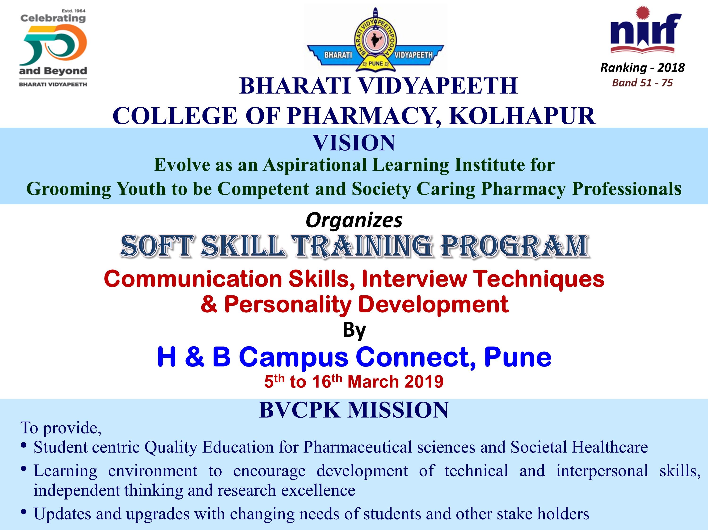 Soft Skill Training Program 2018-19