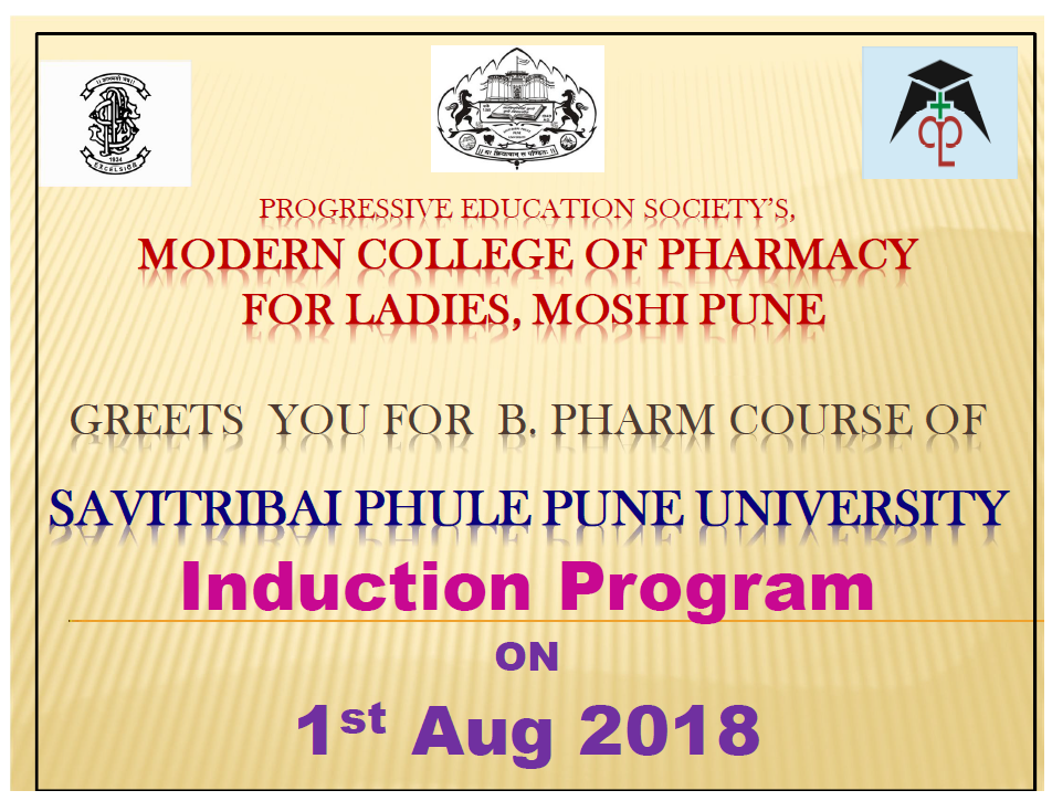 Induction Program for First Year B. Pharm Students