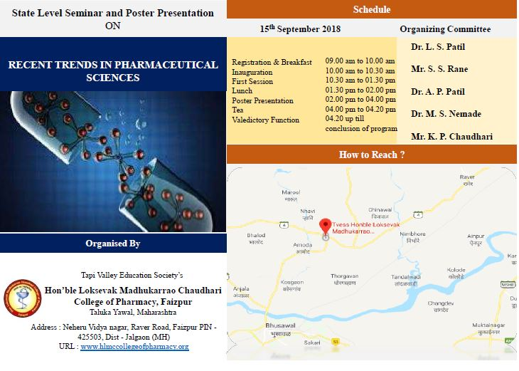 RECENT TRENDS IN PHARMACEUTICAL SCIENCES