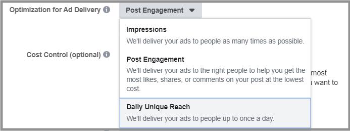 Facebook- Ad Delivery Optimisation