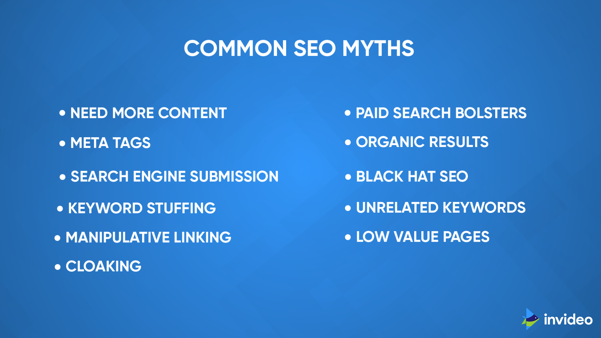 Common SEO Myth