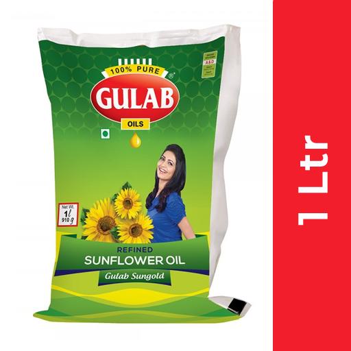 Gulab Sunflower Oil  (गुलाब सनफ्लॉवर ऑइल) - 1 ltr Pouch