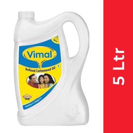Vimal Cotton seed Oil (विमल कपासिया तेल) - 5 ltr (Jar)