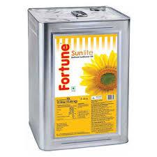 Fortune Sunflower Oil 15 ltr (Tin) - फॉर्च्यून सनफ्लॉवर ऑइल