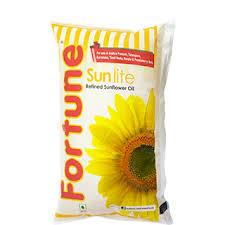 Fortune Sunlite Sunflower Oil 1 ltr (Pouch) - फॉर्च्यून सनफ्लॉवर ऑइल