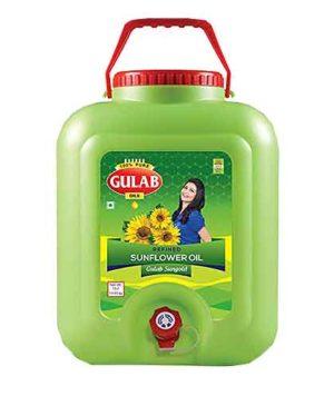 Gulab Refined Sunflower Oil (गुलाब सनफ्लॉवर ऑइल) - 15 ltr (Jar)