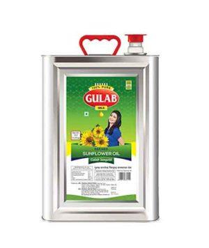 Gulab Refined Sunflower Oil (गुलाब सनफ्लॉवर ऑइल) 15 ltr (Tin)