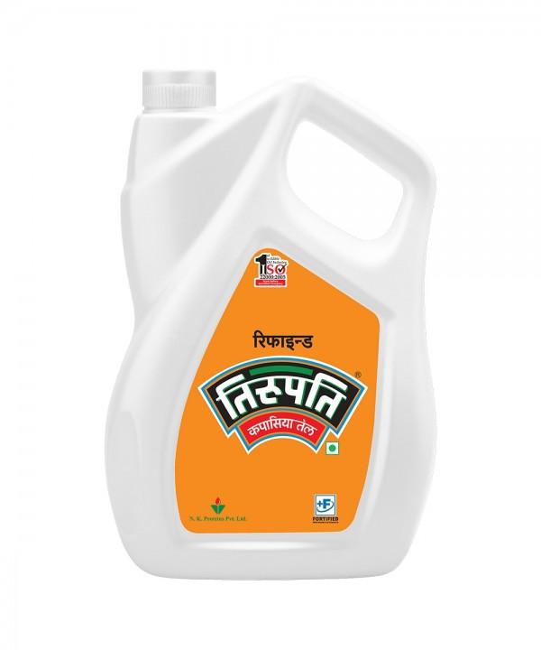 Tirupati Cottonseed Oil ( तिरुपति कपासिया तेल) - 5 ltr (Jar)