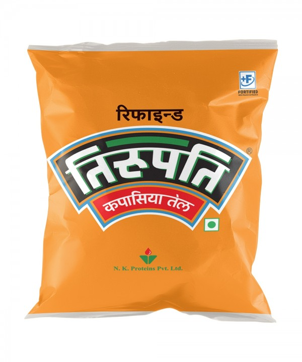 Tirupati Cottonseed Oil (तिरुपति कपासिया तेल) - 500 ml (Pouch)