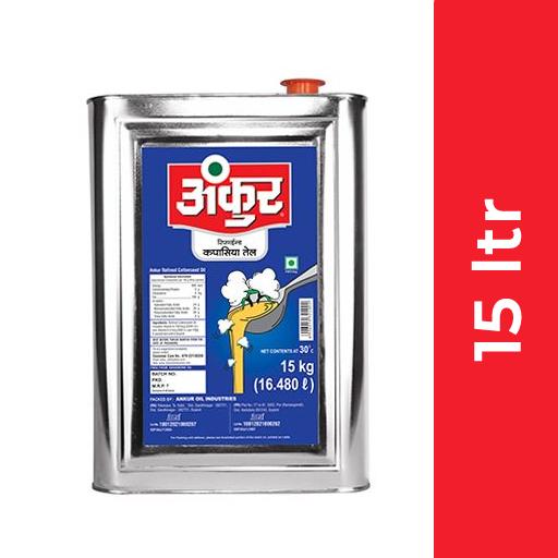 Ankur Cotton Seed Oil 15 ltr