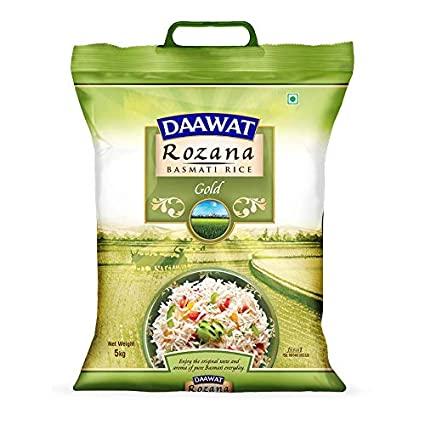 Daawat Rozana Gold Basmati Rice 5 Kg (दावत रोज़ाना बासमती चावल)