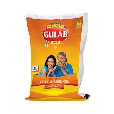 Gulab Cottonseed Oil (Kapasiya Tel - કપાસિયા તેલ) 1 Lt (Pouch)
